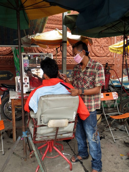 Hairdresser in Phnom Penh