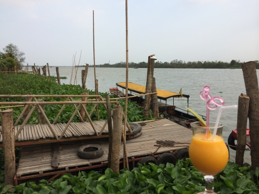 A riverside mango shake in the Mekong Delta.