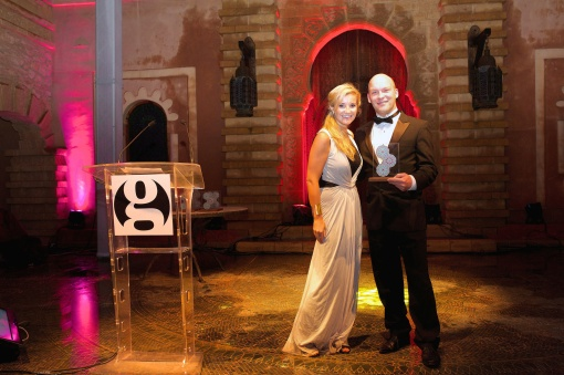 TV's Helen Skelton gets to meet InsideAsia's James Mundy twice at the Guardian Travel Awards