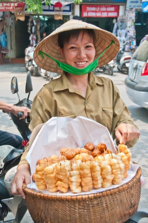 street food vendor Hanoi