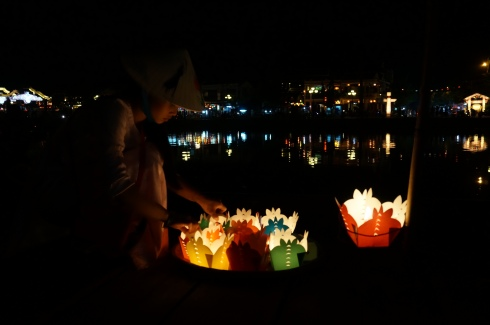 child lantern seller