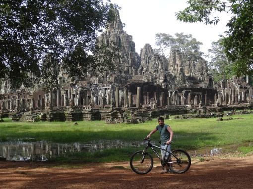 Our Matt Spiller on a bike ride to Angkor Wat