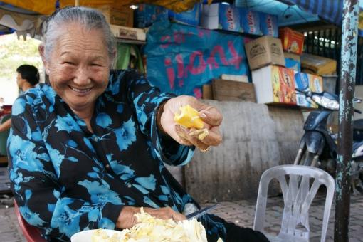 Saigon fruit seller