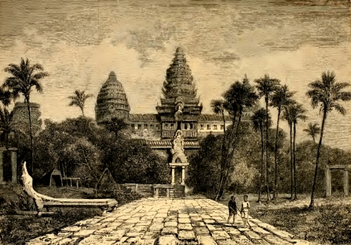 Façade of Angkor Wat by Henri Mouhot, 19th century