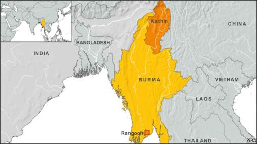 Kachin state map