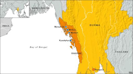Rakhine State map