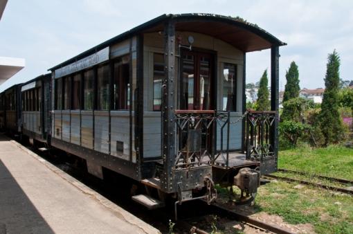 Country train in Dalat, Vietnam