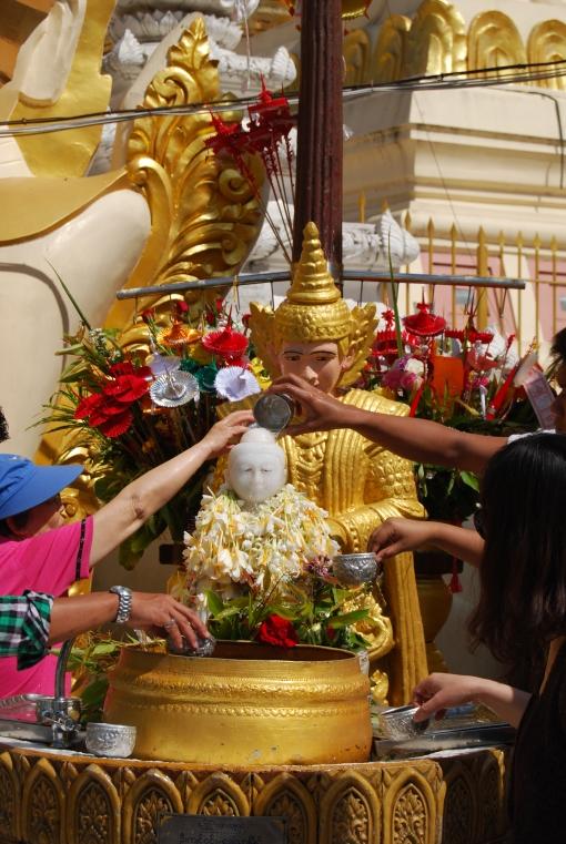Offerings at Shwedagon