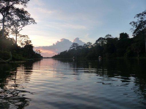 Waterways near Angkor Wat, Cambodia