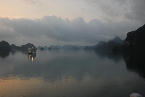 Halong Bay at twilight