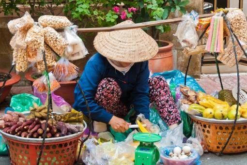 Market trader, Hanoi
