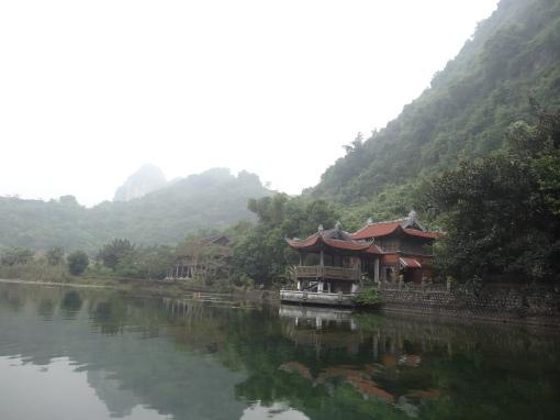 Atmospheric mist in Ninh Binh, Vietnam