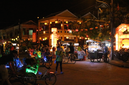 In front of the night market