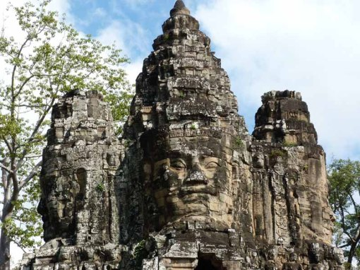 The famous Bayon faces