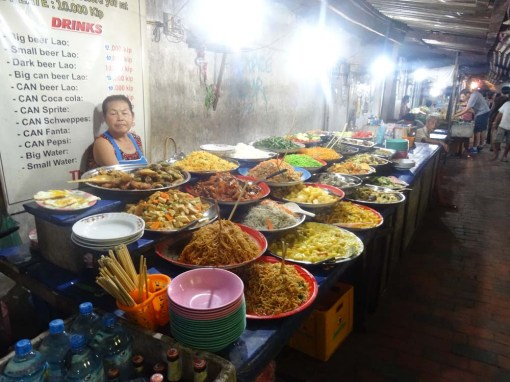 Street-side buffets are a great place to build a veggie feast