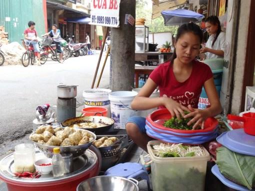 Snacks on the streets of Hanoi