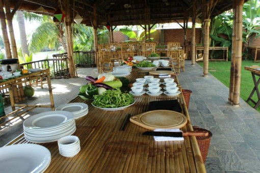 Taking a cookery class in the countryside near Hoi An