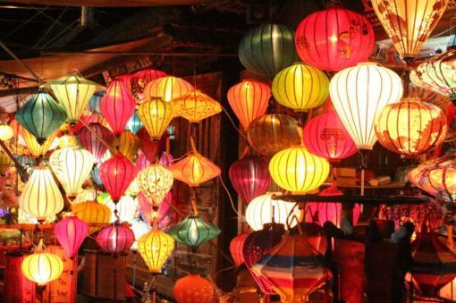 Lanterns on sale at Hoi An's famous night market
