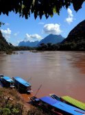 Rivers and mountains of Laos Indochina Encompassed